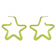 Gold or silver tone large star earrings (Code 0996)